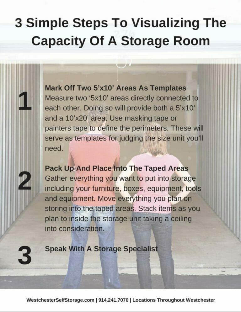Tarrytown Self Storage - 3 steps storage room