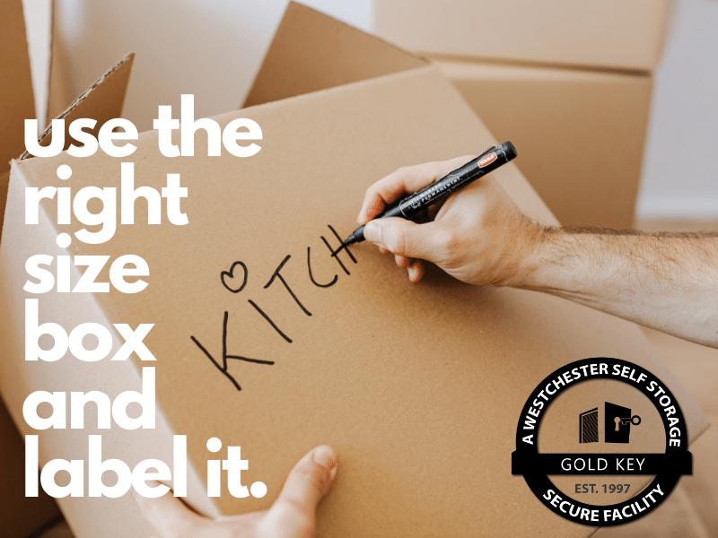 Storage Tips Chappaqua Use The Right Sized Box