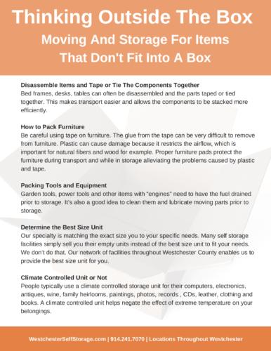 Tarrytown Self Storage - Thinking-Outside-The-Box